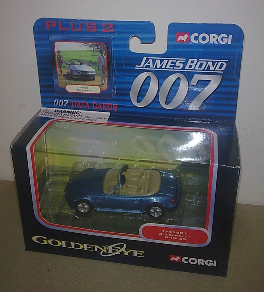 2003 James Bond 007 Die Cast Model Corgi Bmw Z3 Golden Eye Goldeneye Mib Crystal Plinth
