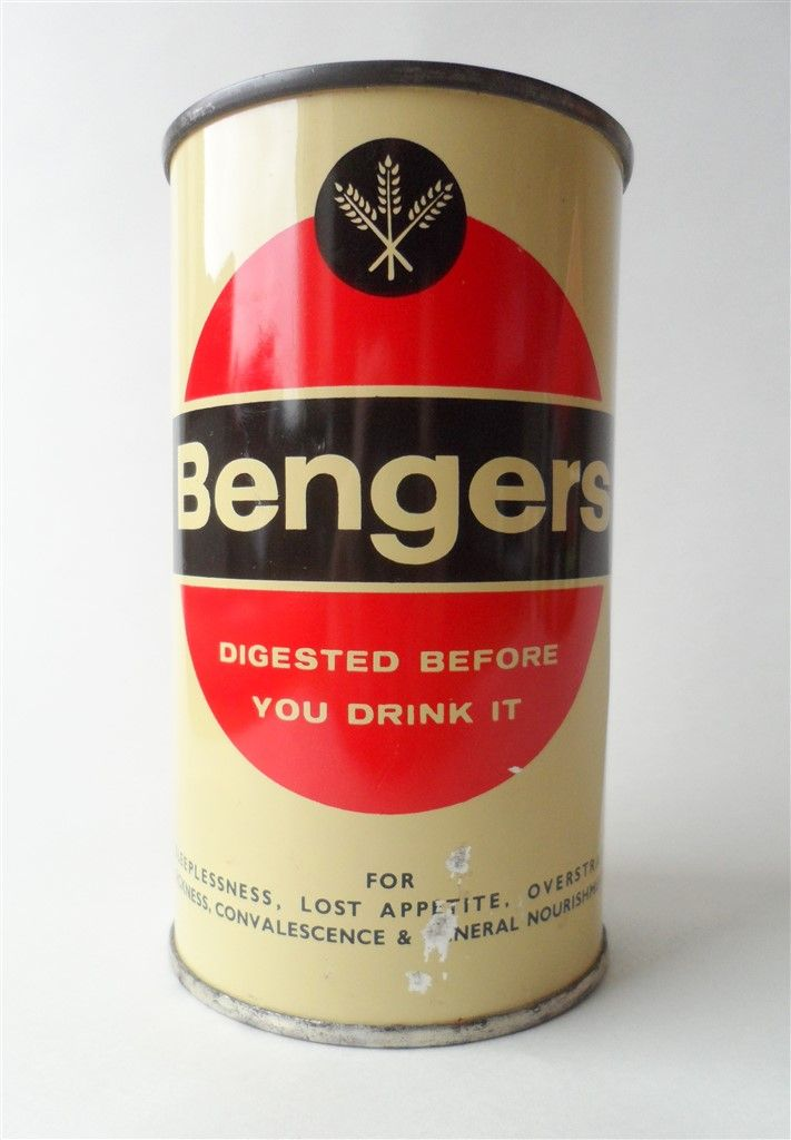 Vintage Kitchen Tin Bengers Powder Food Drink Fisons