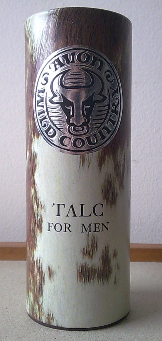 Vintage Mens 100g Avon Wild Country Talc For Men Talcum
