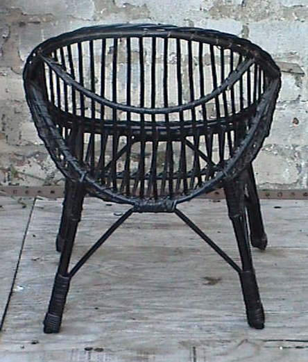 vintage retro home round child 39 s childs cane wicker bedroom chair