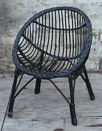 vintage retro home round child s childs cane wicker bedroom chair