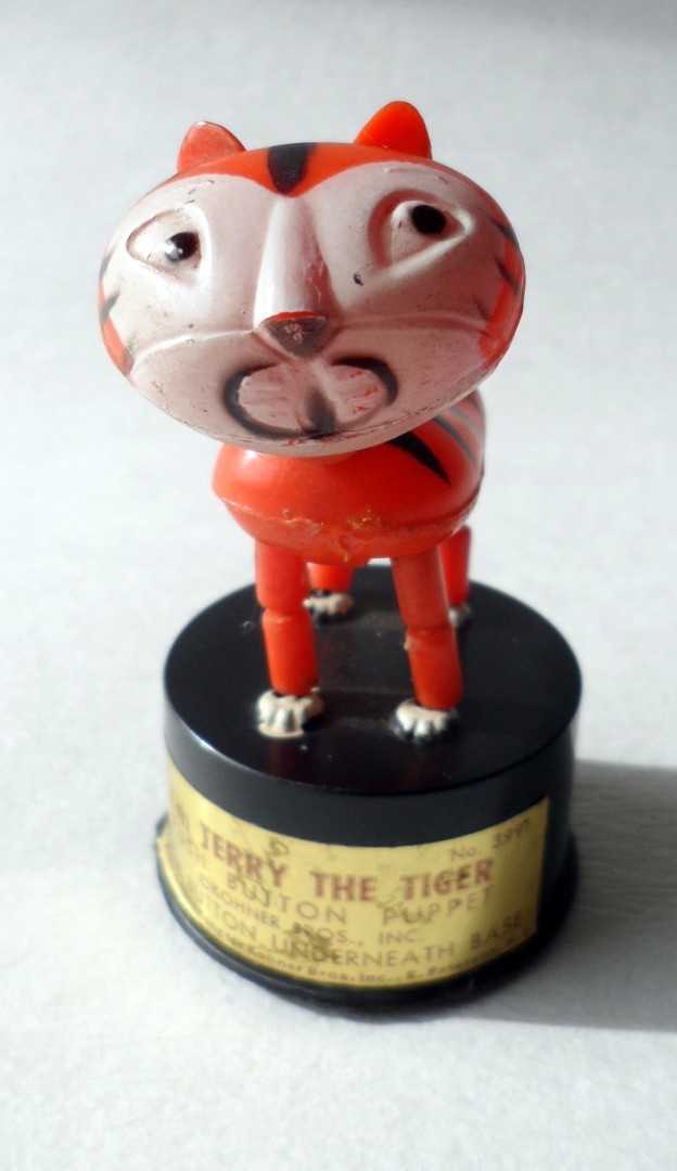 Vintage Toy I M Terry The Tiger Push Button Puppet Kohner