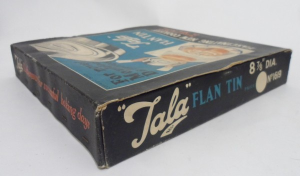 Vintage Kitchen Cookery Tala Flan Tin Original Box Made In England 1950s Moulded Dainties