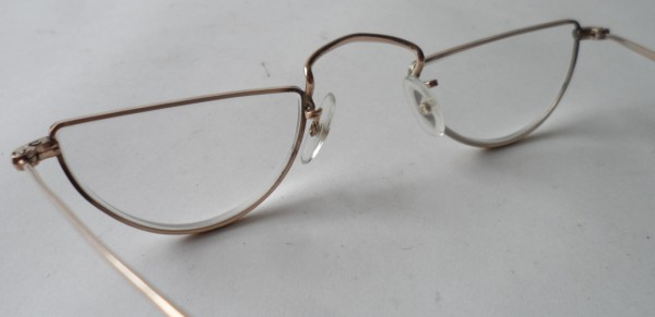 Gold Half Frame Reading Glasses : Vintage Reading Spectacles NHTO Gold Filled Half Moon Eye ...