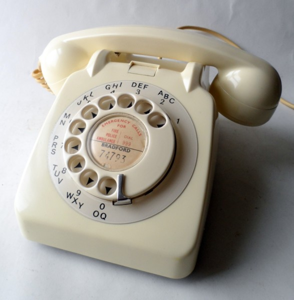 1963 Vintage Ivory Gpo 706l 706 L Rotary Telephone House