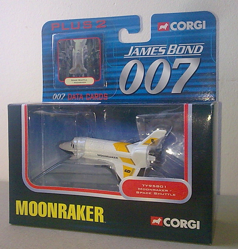 2003 James Bond 007 Die Cast Model Corgi Space Shuttle