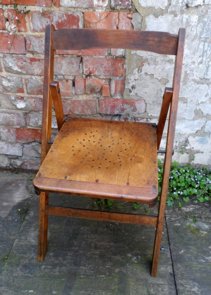 HTF Vintage 1939 W Hands u0026 Sons Limited Buckinghamshire Folding Wooden Chair Makers of Coronation Chairs 1937 u0026 1953 & HTF Vintage 1939 W Hands u0026 Sons Limited Buckinghamshire Folding ...