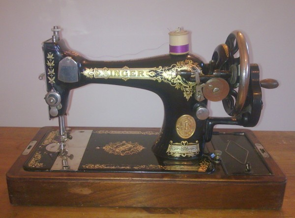 Vintage Art Deco Antique Sewing Singer Hand Crank Machine 40K VS Adorable Singer Hand Crank Sewing Machine