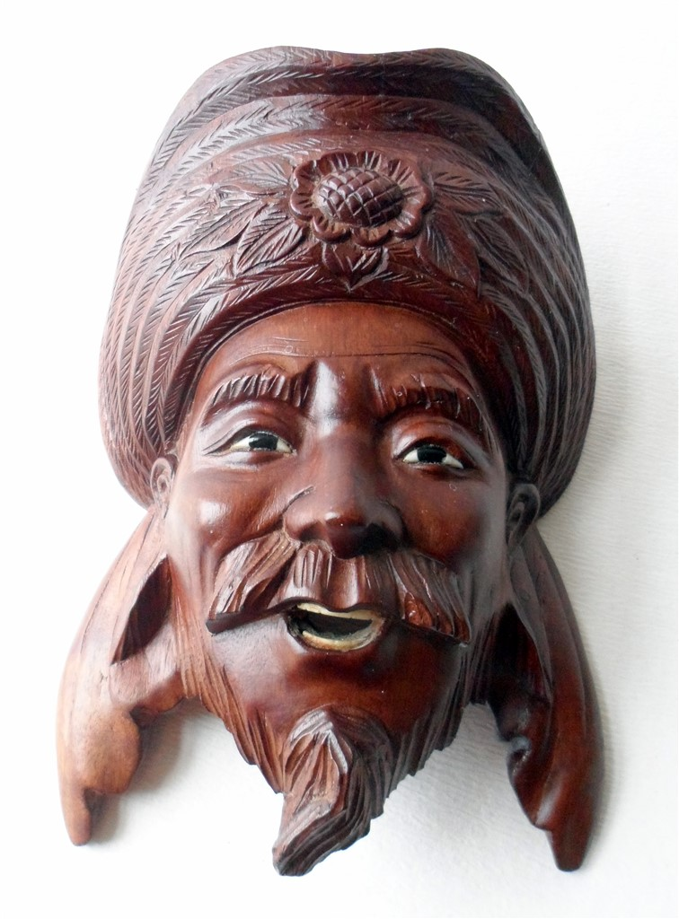 Vintage Asian Art Hand Carved Rosewood Chinese Emperor