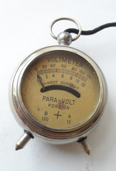 Vintage Engineers Pocket Fob Watch Para Volt High Amp Low