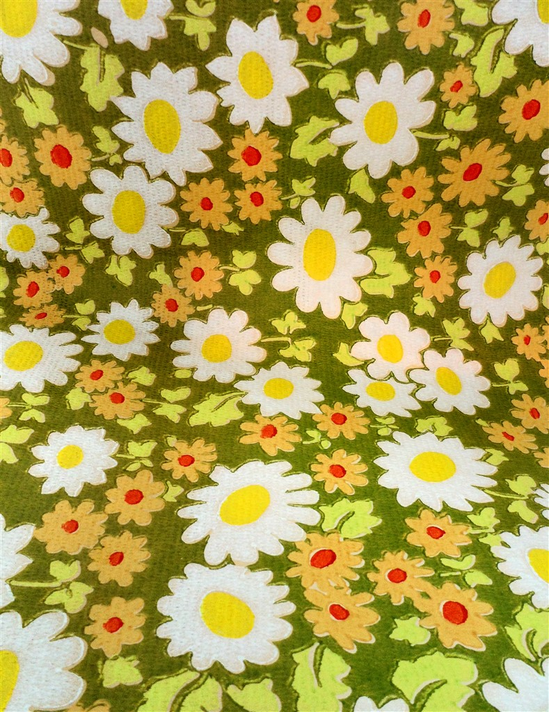 Vintage Retro Decorating DIY Original 1960s 1970s Crown Unused Sealed Floral Wallpaper Mid Century Daisy Pattern R55583