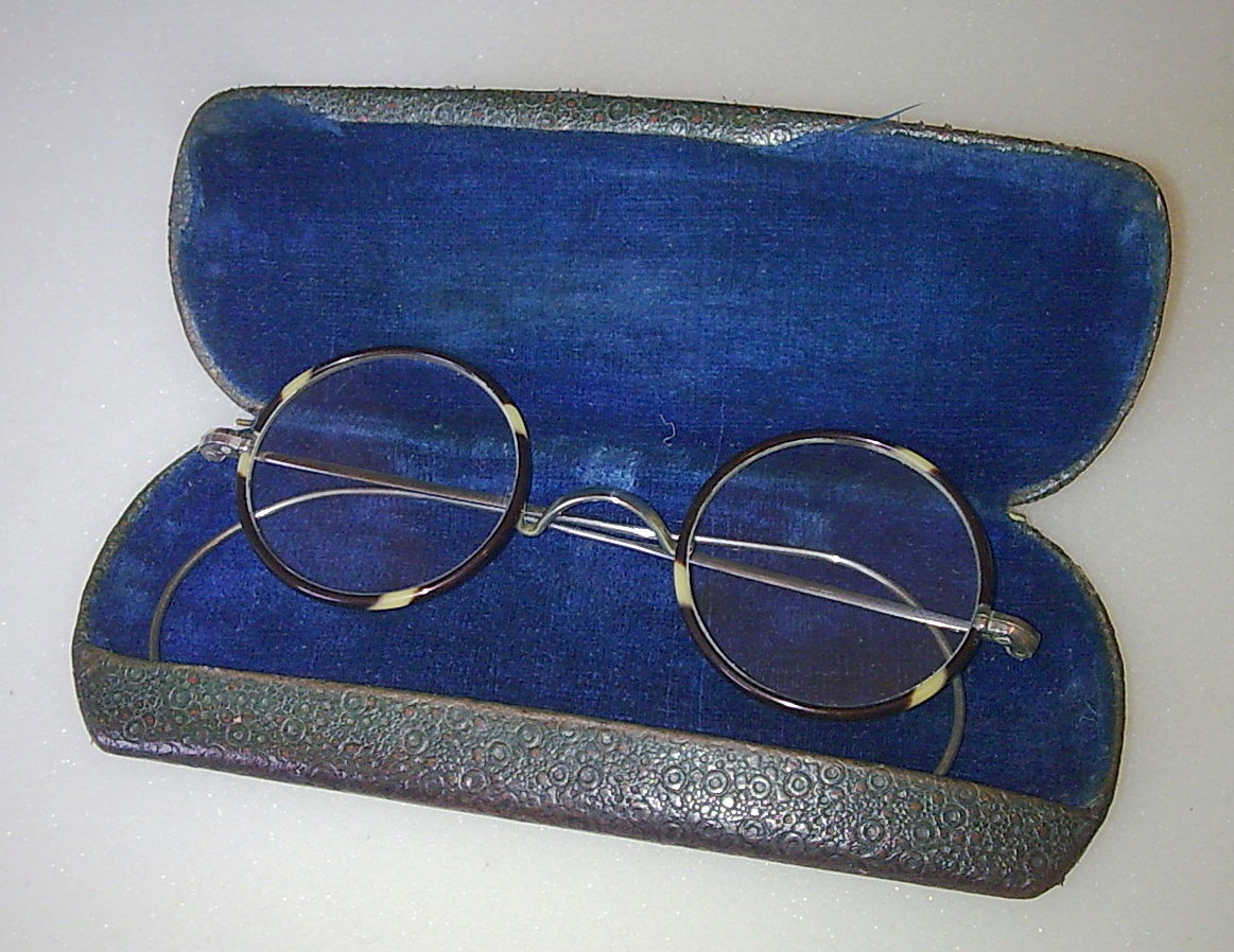 469502320a Vintage Round Hawes Spectacles OTE Glasses Faux Tortoiseshell Nickel Plated  Frames Circa 1920s Cased