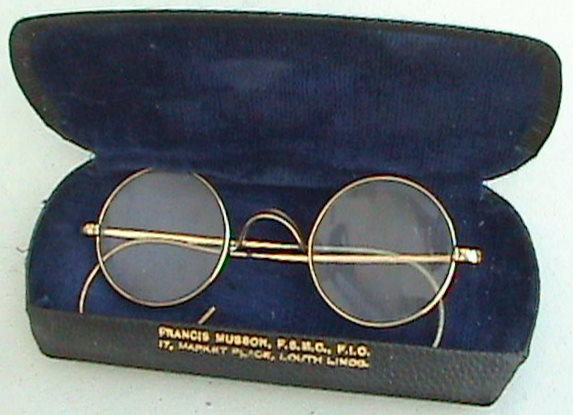 Vintage Round Spectacles Glasses Rolled Gold Ote Over The