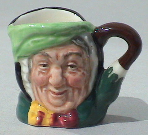 Vintage Royal Doulton Pottery Tiny Miniature Sairy Gamp