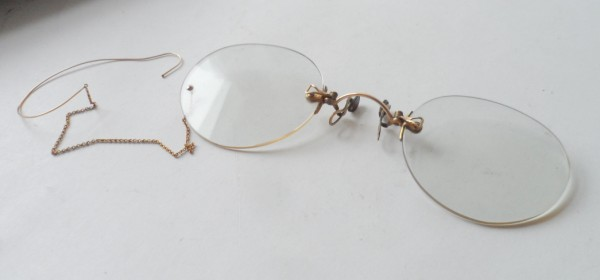 Vintage Spectacles Holdon Pince Nez Glasses 10 12k Gold