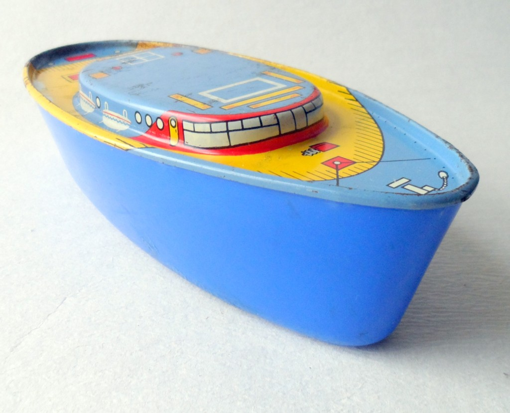 Vintage Toy Child s Childs Tin Ocean Liner Boat Circa 1960s Bath ...