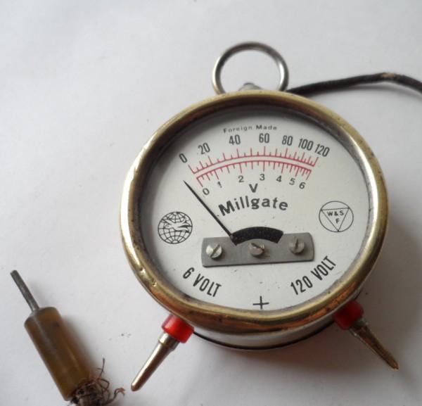 Antique Volt Meter : Vintage engineers pocket fob watch millgate high low