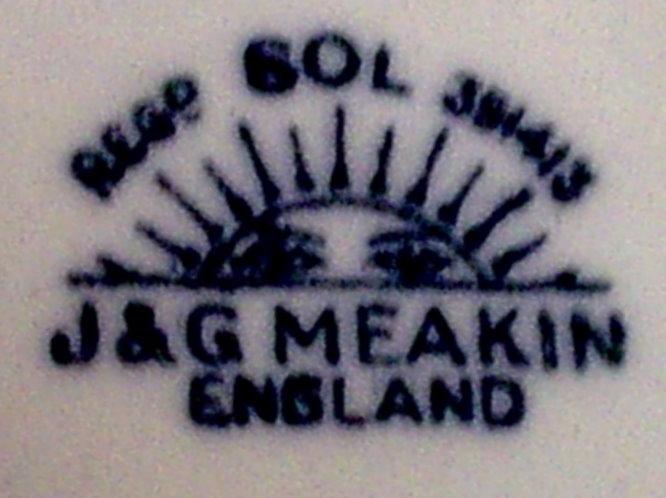 Vintage Art Nouveau J Amp G Meakin Sol Reg No 381413 1902